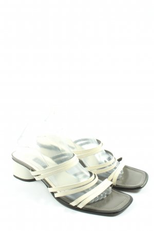Bally Heel Pantolettes natural white casual look