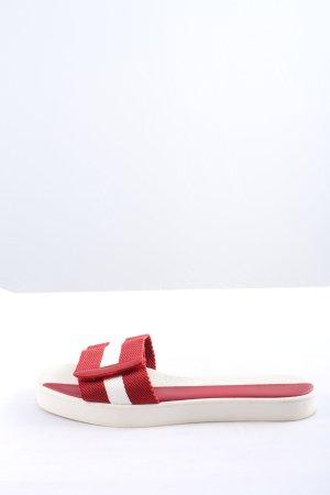 Bally Absatz Pantoletten rot-weiß Casual-Look