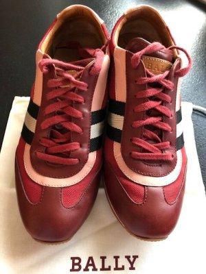 Bally Althea Sneaker Leder Bordeaux Leder,39, gebraucht, TOP UVP 625€