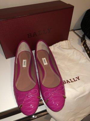 Bally Lakierowane baleriny różowy Skóra