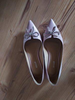 Bally Ballerina's met kant zilver-lichtroze
