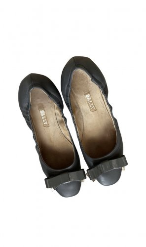 Bally Foldable Ballet Flats dark grey