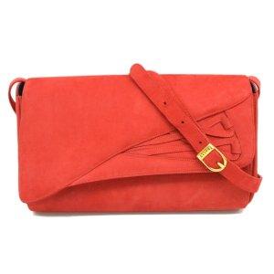 Bally Sac à main rouge cuir