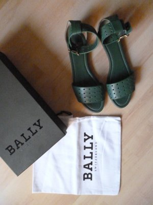 Bally Strapped Sandals forest green leather