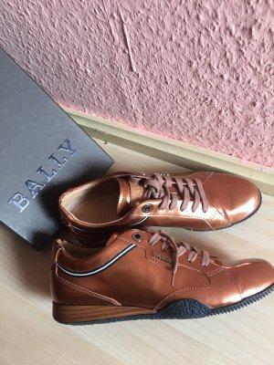 Bally Chaussures à lacets cognac-rouille cuir