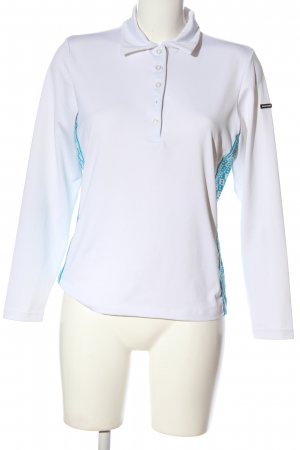 Bally Golf Long Sleeve Blouse white-turquoise casual look