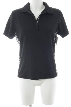 Bally Golf Polo-Shirt schwarz-weiß sportlicher Stil