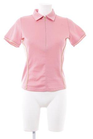 Bally Golf Sportshirt rosa-blassgrün sportlicher Stil