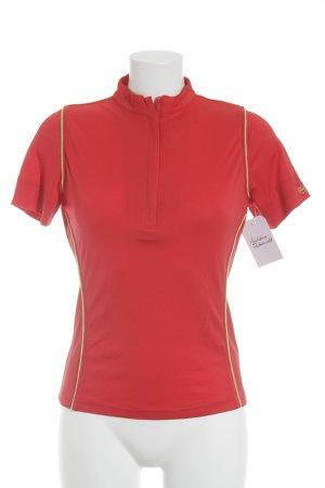 Bally Golf Sportshirt rot-neongrün schlichter Stil