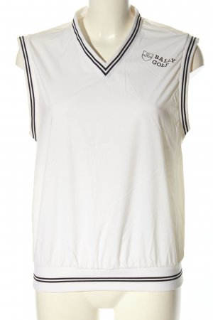 Bally Golf Sports Vests white-black printed lettering casual look