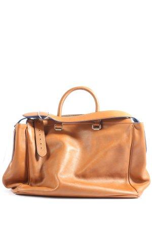 Bally Handtasche braun-silberfarben Casual-Look