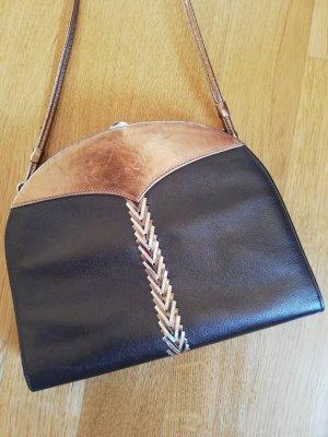 BALLY Handtasche echt Leder, gold-metallic-braun