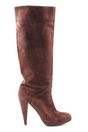 Bally Laarzen met hoge hakken bruin casual uitstraling