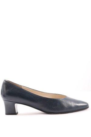 Bally High Heels blau Business-Look