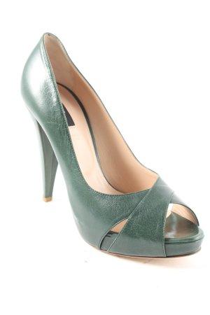 Bally High Heels dunkelgrün