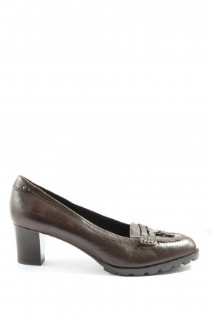 Bally High-Front Pumps brown casual look