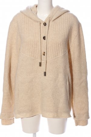 Bally Hooded Sweater cream flecked casual look