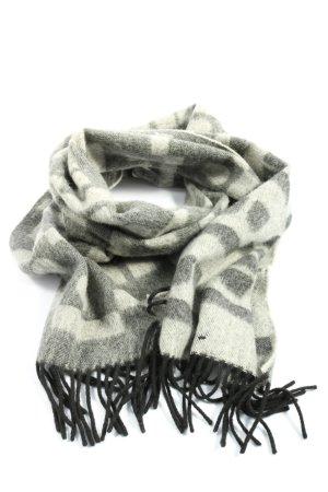 Bally Sjaal van kasjmier lichtgrijs-wit casual uitstraling