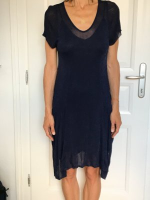 Bally Midi Dress dark blue mixture fibre