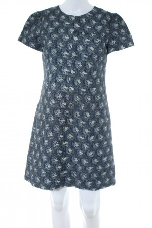 Bally Shortsleeve Dress blue abstract pattern business style