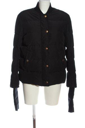 Bally Krótka kurtka czarny Pikowany wzór W stylu casual