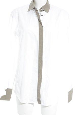 Bally Long Sleeve Shirt white-grey brown