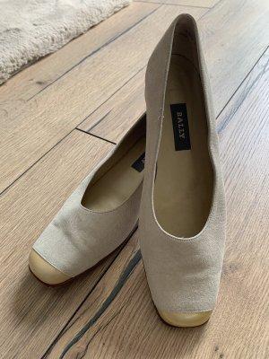 Bally Classic Ballet Flats cream-oatmeal