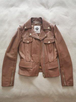 Bally Leather Jacket cognac-coloured-camel