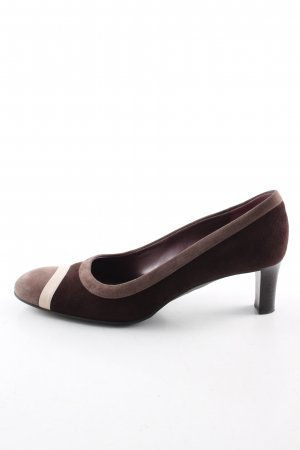 Bally High Heels brown-natural white business style