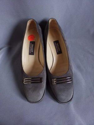 Bally Pumps, grau, Wildleder,Ganzlederschuh,Blockabsatz, Gr. 37