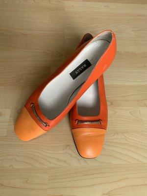 Bally Loafer arancione-arancio neon Pelle