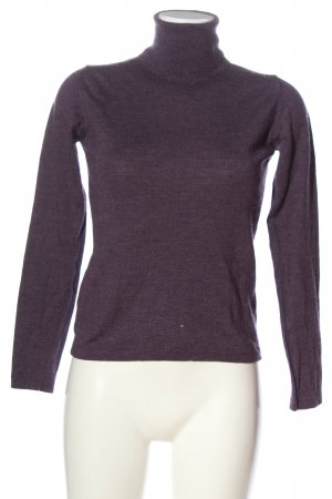 Bally Turtleneck Sweater lilac casual look