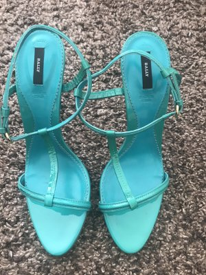 Bally Strapped High-Heeled Sandals turquoise