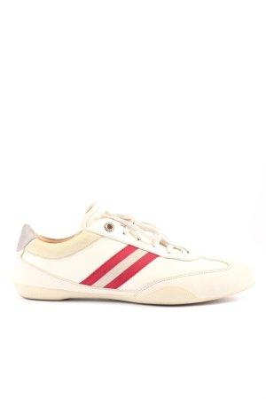Bally Sneakers met veters room-rood gestreept patroon casual uitstraling