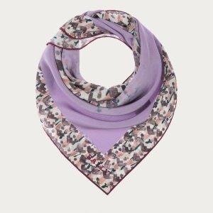 Bally Bufanda de seda púrpura