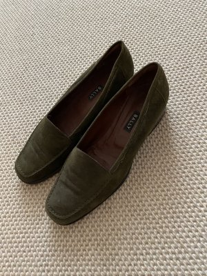 Bally Slippers dark green
