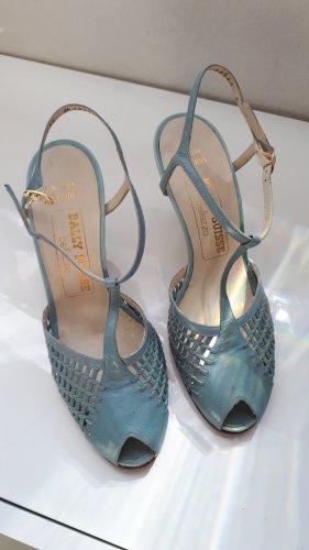 BALLY SUISSE Sandalo con cinturino e tacco alto azzurro