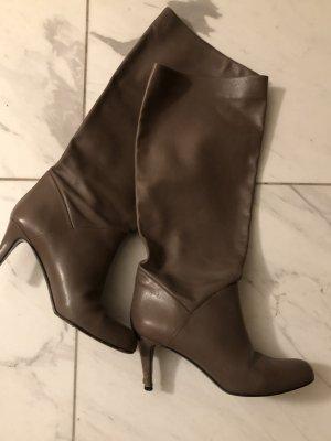 Bally Bottes à l'écuyère gris brun cuir