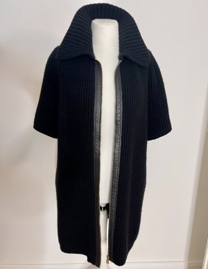 Bally Cardigan à manches courtes noir laine alpaga