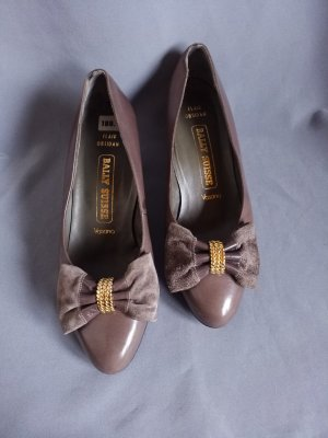 Bally Suisse, Flair Obsidan, Schnallen-Pumps,Glatt-u.Wildleder Gr. 36-37