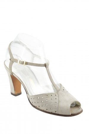 BALLY SUISSE T-Strap Sandals light grey elegant