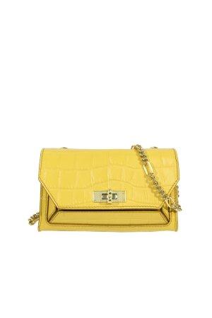 Bally Umhängetasche in Gelb aus Leder