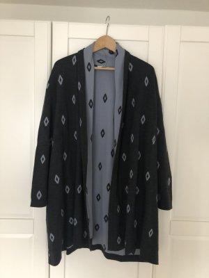 Bally Wełniany sweter szary-błękitny