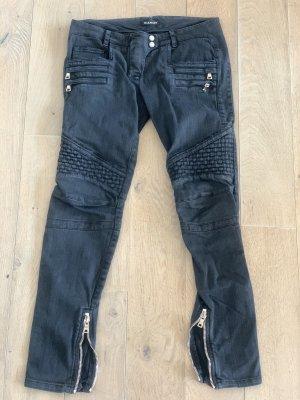 Balmain Jeans da motociclista antracite-nero