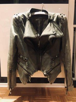 Balmain-ähnliche Jacke Khaki