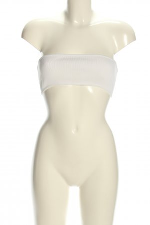 Balmain for H&M Top bandeau blanco look casual