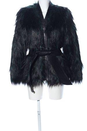 Balmain for H&M Veste en fausse fourrure noir style décontracté
