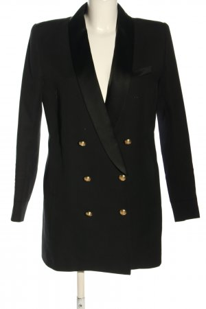 Balmain for H&M Lange blazer zwart zakelijke stijl
