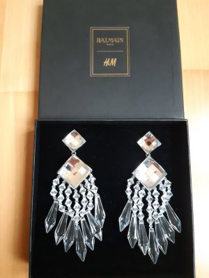 Balmain for H&M Earclip white-silver-colored
