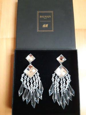 Balmain for H&M Clip d'oreille blanc-argenté